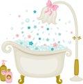 Vintage Bath Illustration