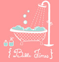 Vintage bathtub vector file eps Royalty Free Stock Photography