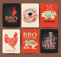 Vintage BBQ set banner- Vector EPS10. Grunge effects can be easily removed.