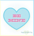 Vintage Be Mine Valentine's Day Card Royalty Free Stock Photo