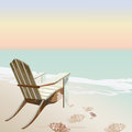Vintage beautiful Sunset Seaside Tropical card Royalty Free Stock Photo