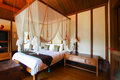 Vintage bed rooms in the hotel or resort Royalty Free Stock Photo