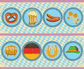 Vintage beer elements with oktoberfest symbol on o old paper Royalty Free Stock Photography