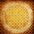 Vintage beige abstract background texture with circle geometric shapes Royalty Free Stock Photo