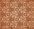 Vintage beige abstract ornate flowers pattern Stock Photo