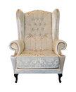 Vintage beige armchair Royalty Free Stock Images