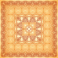 Vintage beige ornate vector square background napkin Royalty Free Stock Image
