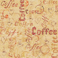 Vintage beige seamless coffee pattern