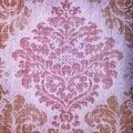 Vintage beige wallpaper with vignette victorian pattern