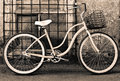 Vintage bicycle with basket Royalty Free Stock Photos