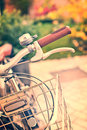 Vintage bicycle detail with bokeh Royalty Free Stock Photo