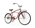 Vintage bicycle isolated on white background d render Royalty Free Stock Photo