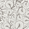 Vintage bicycle seamless wallpaper eps no transparencies ideal for prints Royalty Free Stock Photos
