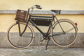 Vintage bicycle with wooden crate Royalty Free Stock Photo
