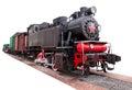 Vintage,big, steam train Royalty Free Stock Photo