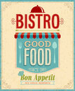 Vintage bistro poster vector illustration Royalty Free Stock Photography
