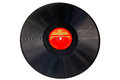 Vintage black record isolated on white Royalty Free Stock Photo