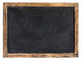 Vintage blackboard or school slate blank used by children during class and for homework with a weathered wooden frame isolated on Stock Photography