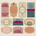Vintage blank labels set of ornate vector eps Royalty Free Stock Images
