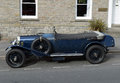 Vintage Blue Bentley Convertible Car in Hay-on-Wye, Wales Royalty Free Stock Photo