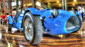 Vintage blue race car Royalty Free Stock Photo