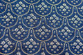 Vintage blue silver bed spread