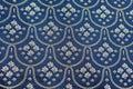 Vintage Blue Silver Bed Spread