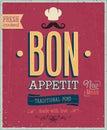 Vintage Bon Appetit Poster.