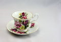 Vintage Bone China Tea Cup and Saucer 2 Royalty Free Stock Photo
