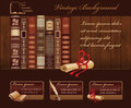 Vintage book background for web template Stock Photography