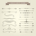 Vintage book vignettes, dividers and separators Royalty Free Stock Photo