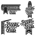 Vintage books shop emblems