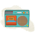 Vintage boom box isolated on white background illustration Royalty Free Stock Image
