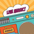 Vintage boom box on white background vector illustration Royalty Free Stock Images