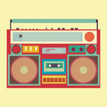 Vintage boombox banner