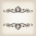 Vintage border frame calligraphy engraving baroque vector Royalty Free Stock Photo