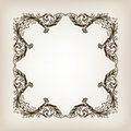 Vintage border frame calligraphy engraving baroque vector filigree with retro ornament pattern in antique style ornate decorative Stock Images
