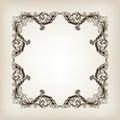 Vintage border frame calligraphy engraving baroque
