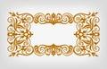 Vintage border frame ornate calligraphy vector Royalty Free Stock Photo