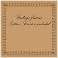 Vintage border frame vector pattern brush is included Stock Photography