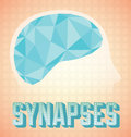 Vintage Brain Synapses Royalty Free Stock Photography