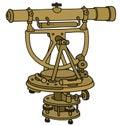 Vintage brass theodolite