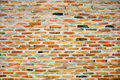 Vintage brick wall background orange Royalty Free Stock Image