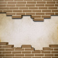 Vintage brickwall background red with concrete texture in the Royalty Free Stock Images