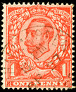 Vintage British Postage Stamp Stock Images