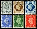 Vintage British Postage Stamps Royalty Free Stock Photo