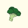 Vintage broccoli art