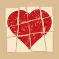 Vintage Broken heart in relationship Royalty Free Stock Photo