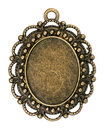 Vintage bronze pendant Royalty Free Stock Photo