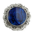 Vintage brooch isolated on white Royalty Free Stock Photo